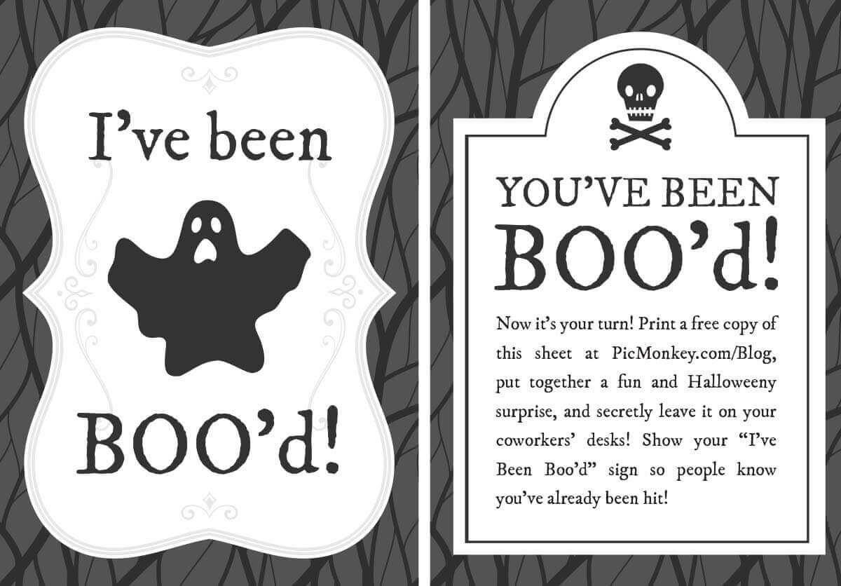 You've Been Booed Printables | Picmonkey Blog - You Ve Been Booed Free Printable