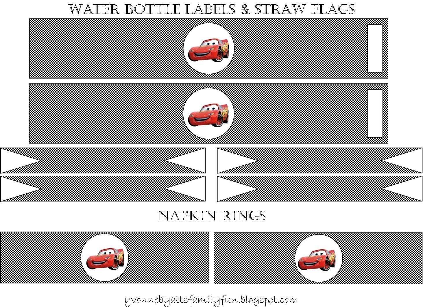 Yvonne Byatt's Family Fun: Disney Cars Party Printables Free (Other - Free Printable Cars Water Bottle Labels